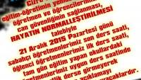 CİZRE / SİLOPİ İÇİN 1 SAAT DERS YAPMIYORUZ