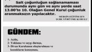 10. GENEL KURUL DUYURUSU